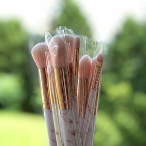 Other - Makeup Brush Set - Pink & White